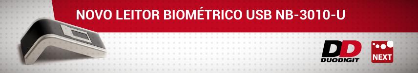 Lançamento Leitor Biométrico NB-3010-U