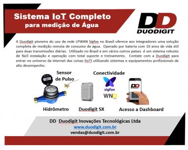 Sistema IoT Completo para medição de consumo de água.